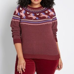 ModCloth unicorn Sweater NWOT